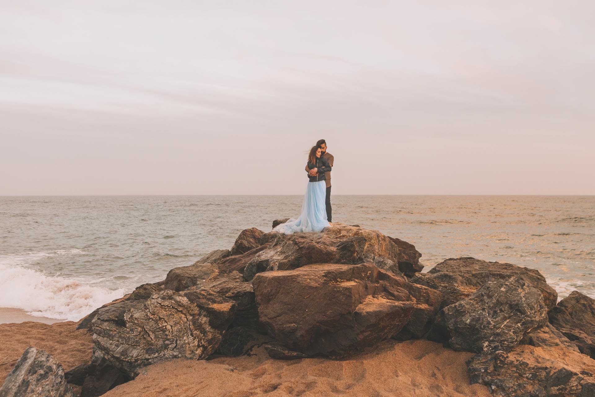 Reportaje de pareja a atardecer